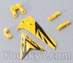 Skytech-M3-Parts-28 Horizontal and verticall wing with fixtures-Yellow