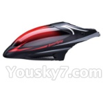 Skytech M36 parts-01 Head cover(Red & Black)