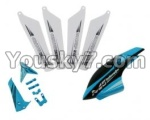 skytech-M5-16 unit A(4pcs main blades&Horizontal and vertical wings with fixtures&Head cover)-Blue