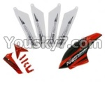 skytech-M5-17 unit b(4pcs main blades&Horizontal and vertical wings with fixtures&Head cover)-Red
