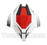 Skytech M60 Parts-02 shell,head cover(White & Red)