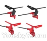 Skytech M60 Parts-21 Whole leg ssembiy(4pcs-2x with Red and blue wire & 2x with Black and white wire)