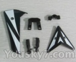 Skytech M13 Parts-26 Horizontal and verticall wing with fixtures