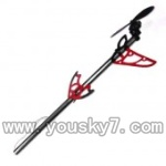 SY8088-36-parts-37 Whole tail unit-Long tail pipe with horizontal and verticall wing&Tail cover with motor,gear and blade-Red