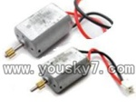 SY-8088-42-parts-16 Main motor with long shaft and gear  & Main motor with short shaft and gear