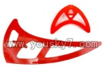 SY-8088-64-parts-28 Horizontal and verticall wing(Red)