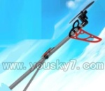 SY8088-55-parts-37 Whole tail unit-Long tail pipe with horizontal and verticall wing&Tail cover with motor,gear and blade-Red