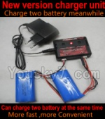 SongYang-X1 Parts-27 Upgrade New version charger and balance charger-Can charge two battery at the same time-Can only be used for upgrade 700mah battery