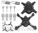 SongYang toys X13 Parts-02 Upper and bottom shell cover,Canopy & Main gear(4pcs) & Motor cover(4pcs) & Main blades(4pcs) & Main motor(4pcs)