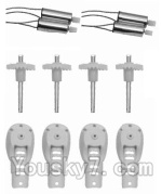 SongYang toys X13 Parts-04 Main gear(4pcs) & Motor cover(4pcs) & Main blades(4pcs) & Main motor(4pcs)