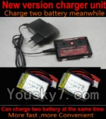 SongYang toys X6 Parts-21 Upgrade New version charger and balance charger-Can charge two battery at the same time & 2pcs Official 600mah Battery