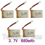 SongYang toys X7 Parts-19 Upgrade 3.7v 680mah battery for SongYang X6 Quadcopter(5pcs)