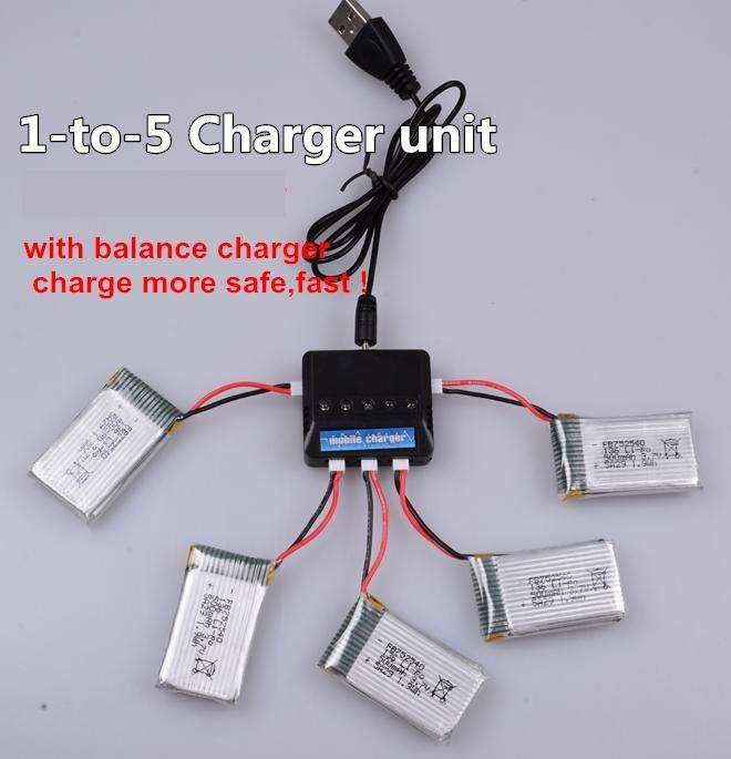 SongYang toys X8 Parts-17 Upgrade 1-to-5 charger and balance charger(Not include the 5 battery)