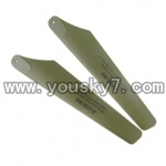 UDI-U1-helicopter-parts-17 Upper Main Blades (Green-2X)