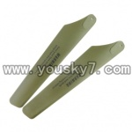 UDI-U1-helicopter-parts-18 Lower Main Blades (Green-2X)