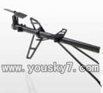 UDI-U13A-parts-45 Tail unit(Tail pipe & Horizontal and vertical wing with fixtures & Tail cover & Tail blade & Tail motor)