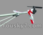 UDI R/C U17-parts-34 Whole tail unit-Red