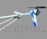 UDI R/C U17-parts-35 Whole tail unit-Blue
