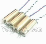 UDIRC U27 parts-11 Reversing-rotating Motor with Black and white wire(2pcs) & rotating Motor with red and Blue wire(2pcs)
