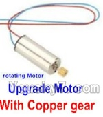 Holy Stone U818A Parts-16 Upgrade rotating Motor with red and Blue wire(1pcs)-With copper gear
