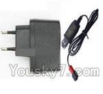 Holy Stone U818A Parts-33 Usb-To-Socket conversion plug & USB Charger cable
