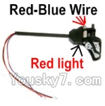 Holy Stone U818A Parts-37 Rotating Motor Assembly with Red and Blue Wire(Red Light)