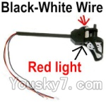 Holy Stone U818A Parts-39 Reversing-rotating Motor Assembly with Black and White wire(Red Light)