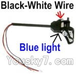 Holy Stone U818A Parts-40 Reversing-rotating Motor Assembly with Black and White wire(Blue Light)