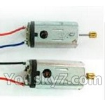 UDI-U822-parts-26 Main motor with long shaft and gear & Main motor with short shaft and gear