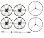 UDI R/C U941 Parts-06 Small wheel(4pcs) & Big wheel (2pcs) & Connecting rods for wheel(1pcs)