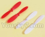 UDI R/C U941 Parts-12 Main rotor blades(4pcs-2X Red & 2X White)