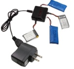 UDI R/C U941 Parts-34 upgrade 1-to-4 charger & balance-charger & USB-to-Socket conversion  plug(Not include the 4 battery)