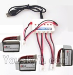 UDI U945 U945A Parts-08 Upgrade 1-to-3 charger with balance charger & 3pcs Battery