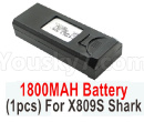 Visuo XS809 XS809S Parts-Battery-3.85V 1800MAH Battery For XS809S Shark(1pcs)