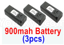 Visuo XS809 XS809S Parts-Battery-3.85V 900MAH Battery(3pcs)