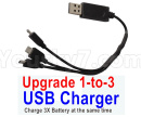 Visuo XS809 XS809S Parts-Upgrade 1-to-3 USB Charger(Charge 3 Battery at the same time )
