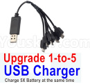 Visuo XS809 XS809S Parts-Upgrade 1-to-5 USB Charger(Charge 5 Battery at the same time )
