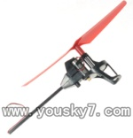 WLtoys-V222-09 Legs-Red(Carbon rod  & Stand frame for motor & Motor & Main blade)