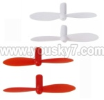 Wltoys V272-parts-11 Main blades(2x Red & 2X White)