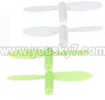 Wltoys V272-parts-13 Main blades(2x Green & 2X White)