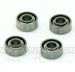 WL-V922-33 Bearing for the main grip set(4pcs)-Φ2xΦ5x2mm