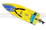 WL911-boat-parts-24 BNF(Only boat,no battery,no charger,no Transmitter)-Yellow