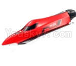 WL915 Boat Parts-01-04 Upper main body shell cover-Red