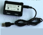WL915 Boat Parts-48 Upgrade USB And Balance charger-Can charger two battery at the same time
