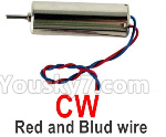 Wltoys Q818 Parts-Main motor with Red and Blue wire(1pcs-CW,Clockwise)-Q838-E-17