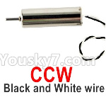 Wltoys Q818 Parts-Main motor with Black and White Wire(1pcs-CCW-Counterclockwise)-Q838-E-18