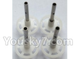 Wltoys-Q838-E Parts-Main gear with hollow pipe(4pcs)-Q838-E-16
