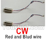 Wltoys-Q838-E Parts-Main motor with Red and Blue wire(2pcs-CW,Clockwise-Q838-E-17)