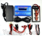 Wltoys V950 Spare-Parts-36-02 Upgrade Charger unit,Can charger 6x battery at the same time(Power & B6 Charger & 1-To-6 Parallel charging Board)