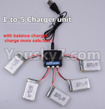 XK X130-T.0021-02 Spare Parts Upgrade 1-to-5 charger and balance charger(Not include the 5 battery)